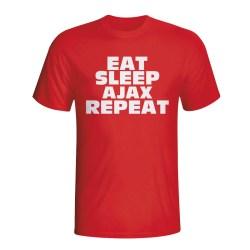 Eat Sleep Ajax Repeat T-shirt (red) - Kids