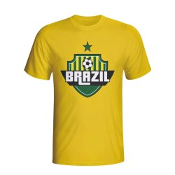 Brazil Country Logo T-shirt (yellow)