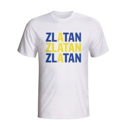 Zlatan Ibrahimovic Sweden Player Flag T-shirt (white)