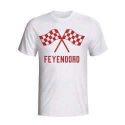 Feyenoord Waving Flags T-shirt (white)