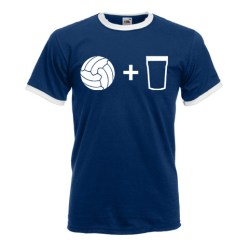 Beer and Football T-Shirt (Navy)