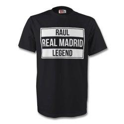 Raul Real Madrid Legend Tee (black) - Kids