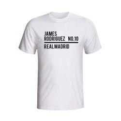 James Rodriguez Real Madrid Squad T-shirt (white) - Kids
