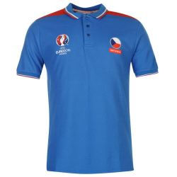 Czech Republic UEFA Euro 2016 Polo Shirt (Blue)