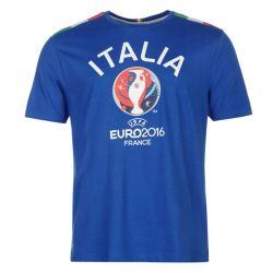 Italy UEFA Euro 2016 Graphic T-Shirt (Blue)