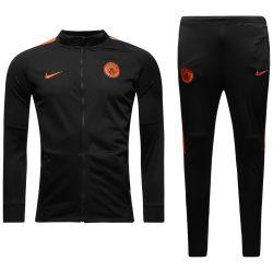 2016-2017 Man City Nike Woven Tracksuit (Black) - Kids