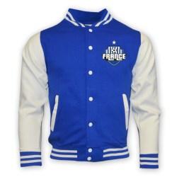 France College Baseball Jacket (blue) - Kids