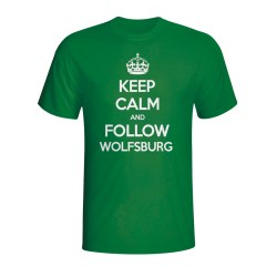 Keep Calm And Follow Wolfsburg T-shirt (green) - Kids
