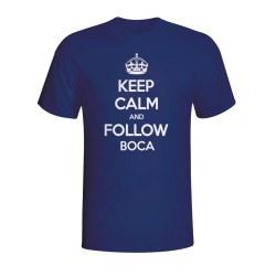 Keep Calm And Follow Boca Juniors T-shirt (navy) - Kids