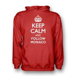 Keep Calm And Follow Monaco Hoody (red) - Kids