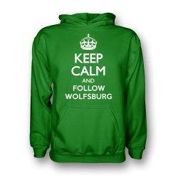 Keep Calm And Follow Wolfsburg Hoody (green) - Kids