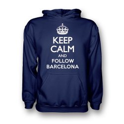 Keep Calm And Follow Barcelona Hoody (navy)