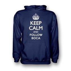 Keep Calm And Follow Boca Juniors Hoody (navy) - Kids