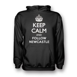 Keep Calm And Follow Newcastle Hoody (Black) - Kids