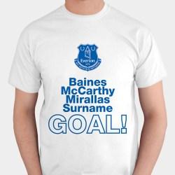 Personalised Everton Goal T-Shirt