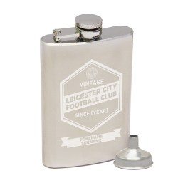Personalised Leicester City Vintage Hip Flask