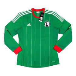 2013-14 Legia Warsaw Adidas Away Authentic Long Sleeve Football Shirt