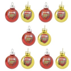Arsenal Xmas Logo Baubles