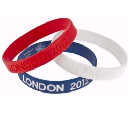 Team Gb 3pk Wristband (wht/blue/red)