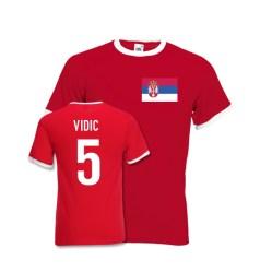 Nemanja Vidic Serbia Ringer Tee (red)