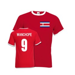 Paolo Wanchope Costa Rica Ringer Tee (red)