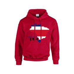 Costa Rica 2014 Country Flag Hoody (red)