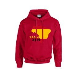 Spain 2014 Country Flag Hoody (red)