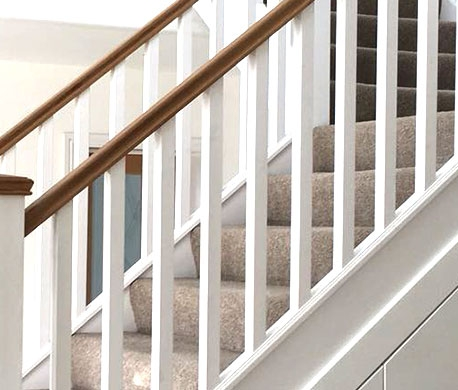 Stair Parts Spindles Replacement Staircases From Uk Stair Parts   Stair Rails And Spindles   Dark   Restaining   Modern   Spiral   Glass
