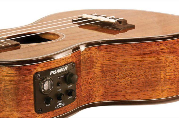 Choosing ukulele pickups (pictured, Lanikai Koa Tenor UkeSB)
