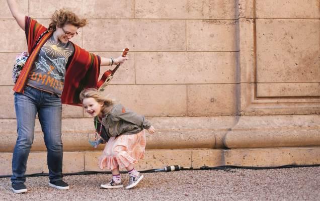Julie Ratner, with daughter Ellianah