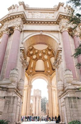 The Uke-a-Thon took place in and around the Palace of Fine Arts rotunda in San Francisco, the site of the 1915 PPIE