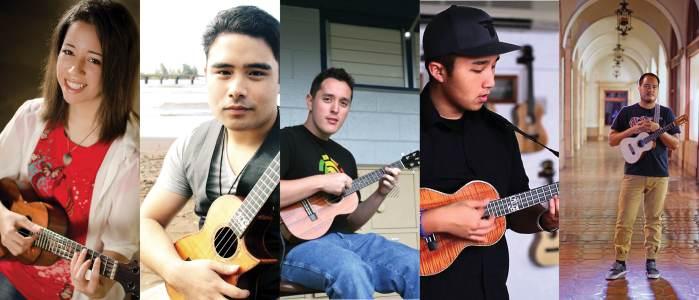 Ukulele virtuoso's Brittni Paiva,Kalei Gamiao, Andrew Molina, Kris Fuchigami, Corey Fujimoto