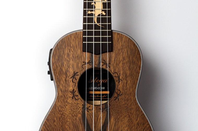 review ortega s lizard cc gb acoustic electric uke is sneaky good