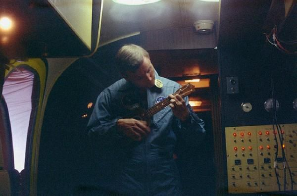 Neil Armstrong Strums Ukulele After Return From Apollo 11 Mission
