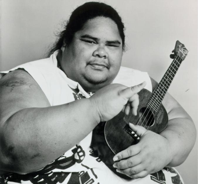 IZ Israel Kamakawiwo'ole Ukulele Hawaii Big Boy Records Portrait uke