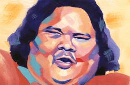 Bruddah IZ Israel Kamakawiwo'ole Ukulele Hawaii (Olivia Wise Illustration)