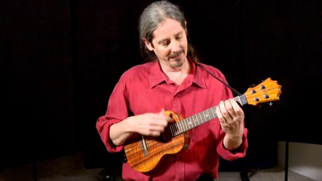ukulele player Daniel Ward