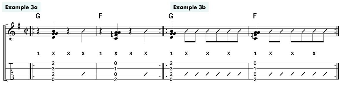 metronome ukulele rhythm lesson ex3