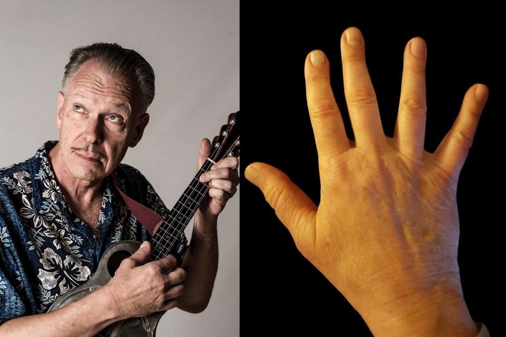 picking hands of ukulele player Casey Macgill