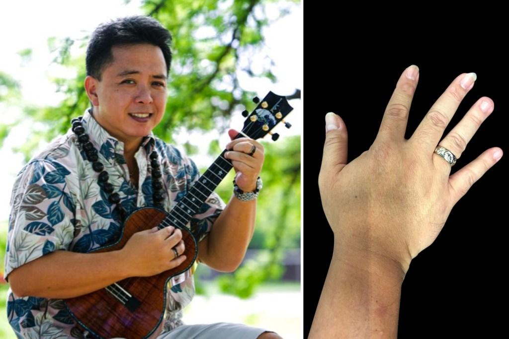 picking hands of ukulele player herb ohta jr