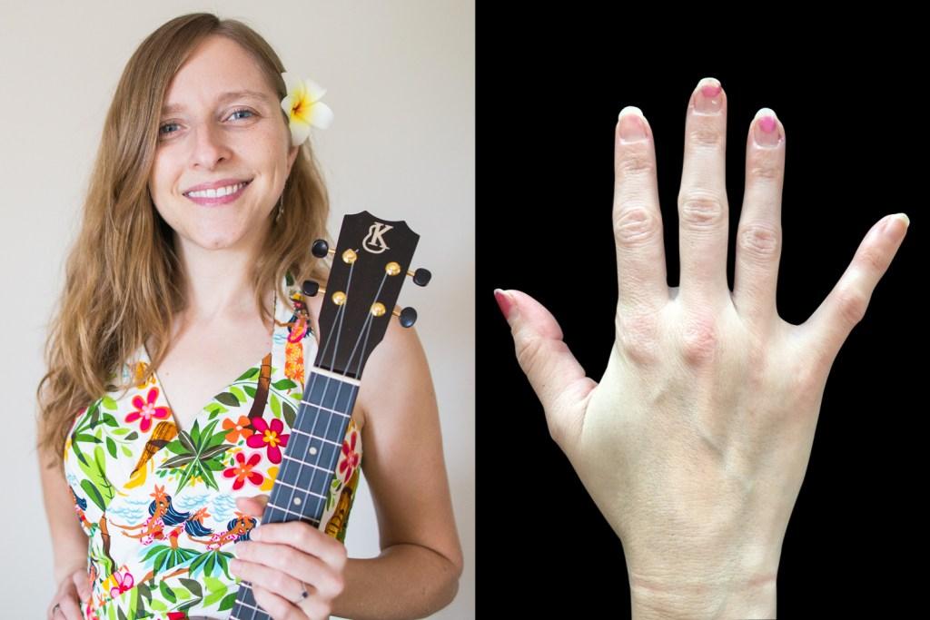 picking hands of ukulele player sarah maisel