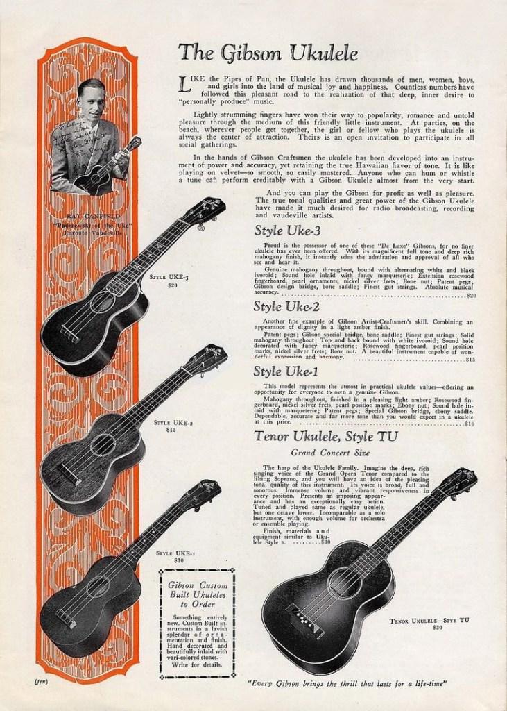 1929 Gibson ukulele Catalog
