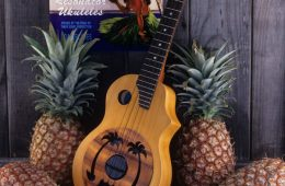 wood resonator ukulele