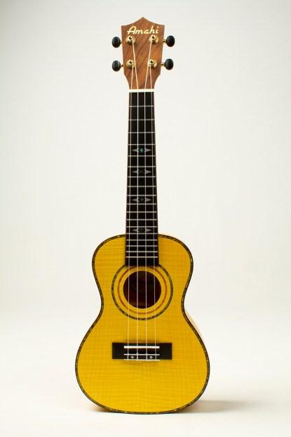 amahi tiger maple ukulele