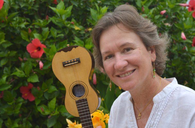 Samantha with a machete, cousin of the ukulele