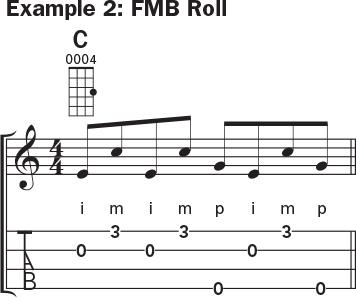 Ukulele banjo rolls example 2