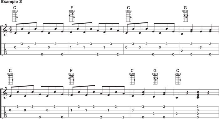 Ukulele banjo rolls example 3