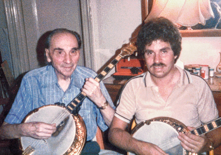 Roy Smeck and Vincent Cortese with banjos