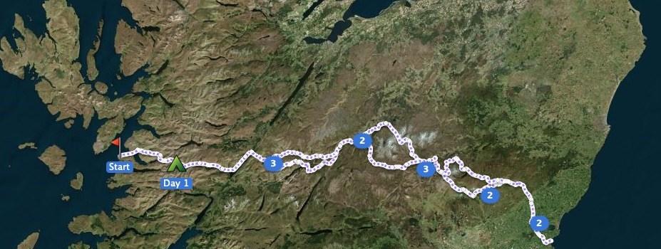 TGO Challenge 2020 – Route