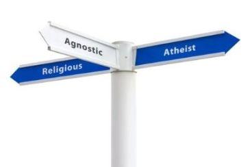 Un semn care îndreaptă spre agnosticism, ateism și teism religios